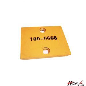 100-6666 Loader 973, 966D, 966E Bolt On Cutting Edge End Bit Segment