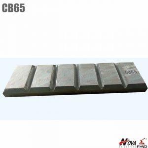 Alloyed15CRMo ASTM A532 Wear Parts Chocky Bars CB65