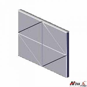 63HRC Asgco Carbide White Iron Notched Wear Plates