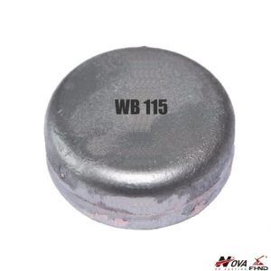 700Bhn Laminated White Iron Excavator Parts Wear Buttons 115mm WB115