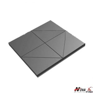 High Chromium Star Notched Wear Plate with Mild Steel Backing