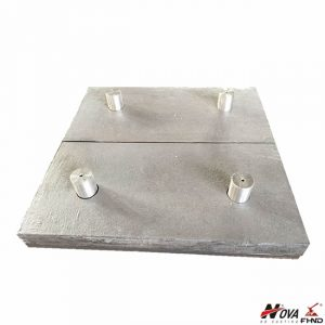 Laminated White Iron & Mild Steel Wear Plate with Studs
