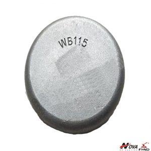 WB115 Wear Button w 700 BHN High Chromium White Iron