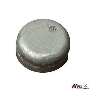 White Iron Wear Button WB60