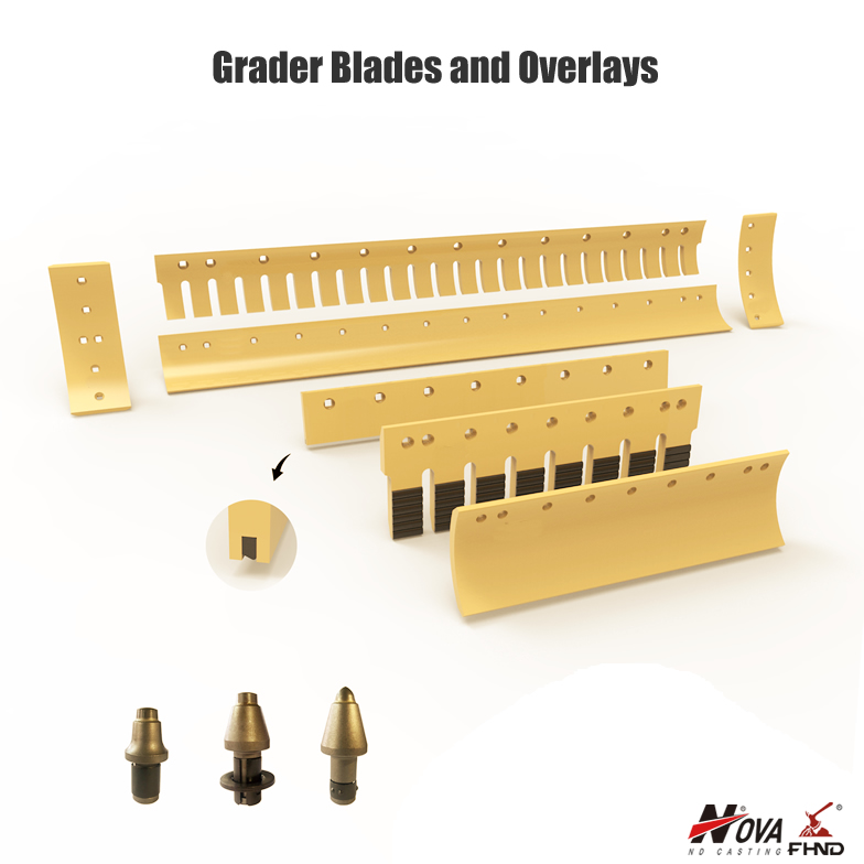 Grader Blades and Overlays