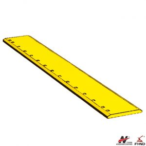 4T8316 CAT 15 Holes 7FT Flat Heat Treated Grader Blade